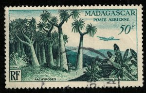 Madagascar, 50F, 1954, Airmail (T-6958)