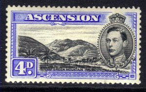 Ascension Island 1940 KGV1 4d Blue & Black MM Perf 13 SG 42d ( R192 )
