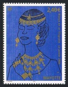 Mayotte 206,MNH. Gold Jewelry,2004.