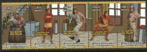MEXICO 2522, Popular TV characters El Chapulin Colorado Strip. MINT, NH. F-VF.