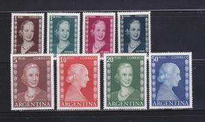 Argentina 611-618 Set MNH Eva Peron, First Lady Of Argentina