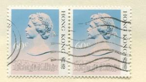 Hong Kong - Scott 493 - Definitive Issue -1987 - FU - Pair of 60c Stamps