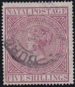 Natal 1874-1878 SC 55 Used