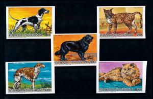 [93774] Central African Rep. 1986 Pets Dogs Cats Imperf. Set MNH