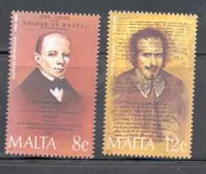Malta Sc 668-9 1985 Famous Men stamp set mint NH