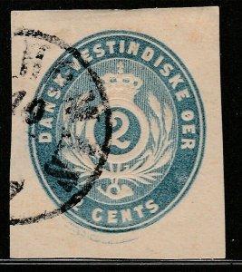Danish West Indies Postal Envelope cut out A14P13F215