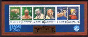 Alderney 118a Divers Souvenir Sheet MNH VF