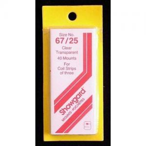 Showgard Stamp Mounts Size 67 / 25 CLEAR Background Pack of 40