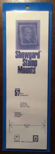 Showgard Stamp Mounts Size 57/215 BLACK Background Pack of 15