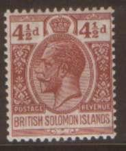 British Solonmon Is 4 1/2d SG45a hinged mint