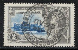British Guiana 1935 Silver Jubilee Omnibus Issue 2c Scott # 223 Used SON
