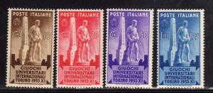 ITALIA REGNO ITALY KINGDOM 1933 GIUOCHI UNIVERSITARI GIOCHI GAMES SERIE COMPL...