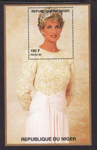 Niger MNH S/S Princess Diana In White Gown 1997
