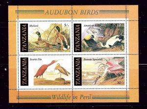 Tanzania 309a MNH 1986 Birds S/S