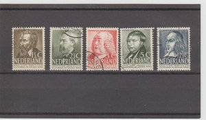 Netherlands  Scott#  B113-B117  Used  (1939 Cultural Relief)
