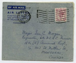 Air Letter Sheet 7 Dec 1942 First Day of Issue. Rotherham - Montreal Canada.