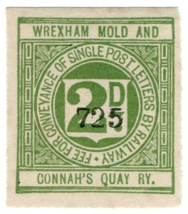(I.B) Wrexham, Mold & Connah's Quay Railway : Letter Stamp 2d
