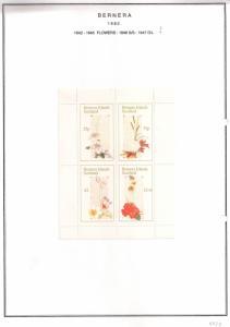 SCOTLAND - BERNERA - 1982 -Flowers (20) - 4v Perf Sheet - MLH