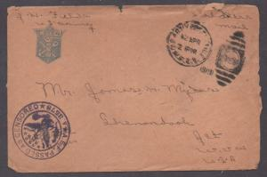 **US WWI Censored AEF Soldier's Mail Cover, 4/2/1919 CDS, Contents from France