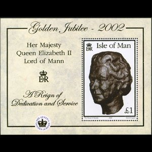 ISLE OF MAN 2002 - Scott# 941 S/S QEII Reign NH