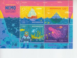 2019 Hungary Jules Verne's Captain Nemo - For Youth SS  (Scott NA) MNH