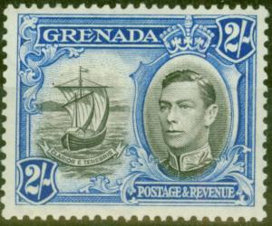 Grenada 1941 2s Black & Ultramarine SG161a P.13.5 x 12.5 Fine Lightly Mtd Mint