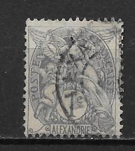 France Offices in Egypt - Alexandria 16 1c single Used