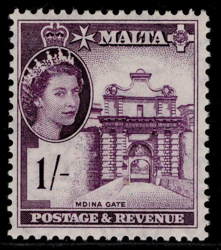 MALTA QEII SG276, 1s deep reddish violet, NH MINT.