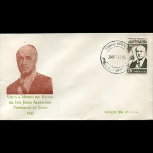 MEXICO 1962 - FDC-927 Pres.