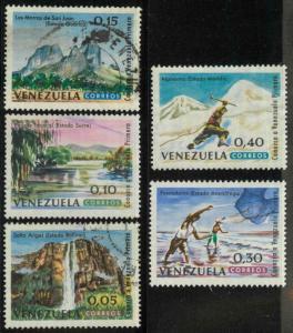 Venezuela 860-864 Used VF (863 mint, 862,4 cr)