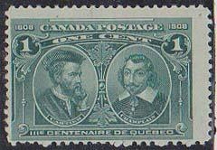 Canada USC #97i Mint Light Hairlines in Margin - Quite Well Centered F-NH