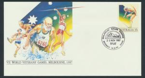 Australia PrePaid Envelope 1987 -  VII World Veteran Games Melbourne