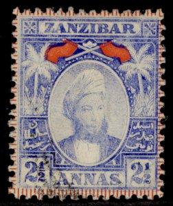 ZANZIBAR QV SG161, 2½a pale blue, FINE USED.