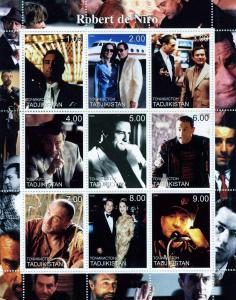 Tajikistan 2000 Robert DE NIRO American Actor Sheet (9) Perforated Mint (NH)