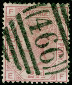 SG139, 2½d rosy mauve PLATE 2, USED. Cat £90. WMK ANCHOR. EF