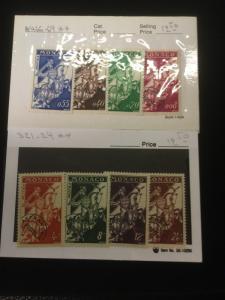 Monaco Scott #321-24 & #466-69 Mint Never Hinged Sets!
