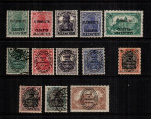 germany Allenstein mint and  used  lot of 13