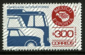 MEXICO Exporta 1494 $300P Cars/Buses Fluor Paper 8 MNH