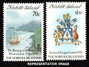 Norfolk Islands Scott 469-470 Mint never hinged.