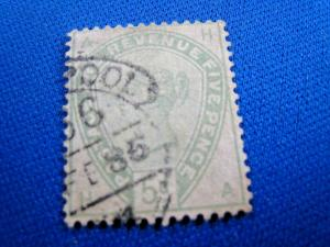 GREAT BRITAIN  -  SCOTT #104  -  Used      (brig)