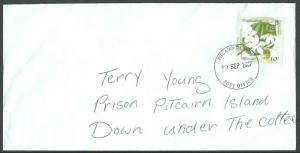 PITCAIRN IS 2007 scarce local 10c rate PRISON MAIL cover ..................62048