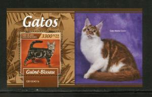 GUINEA BISSAU 2019 CATS  SOUVENIR SHEET MINT NEVER HINGED