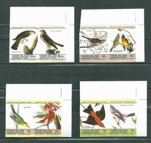 Union Island 1985 Birds 4 pairs imperf. MNH S.588