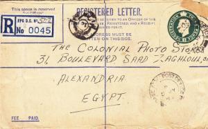 1946, British FPO 502 to Alexandria, Egypt, See Remark (28763)