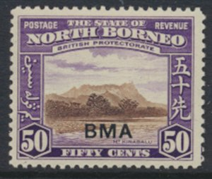 North Borneo  SG 331 SC# 219 MH    OPT BMA  See scans / details