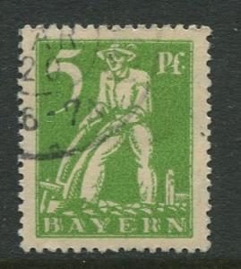 Bavaria -Scott 238 - Ploughman -1920 - Used -5pf Stamp