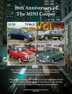 2020/12- TUVALU - MINI COOPER    4V  complet set    MNH ** T