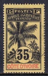 Ivory Coast - Scott #30 - Used/CTO - Paper adhesion/reverse - SCV $5.75
