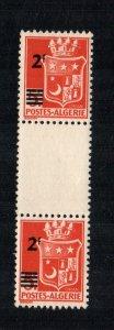 Algeria  166  MNH cat $ 12.50 gutter pair