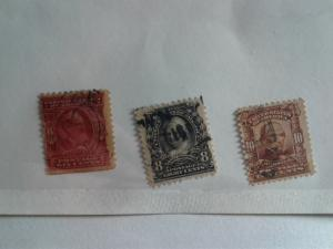 SCOTT # 305-307 USED LOT CONSISTS OF 3 STAMPS